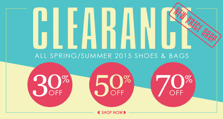 Clearance: more Spring/Summer 2015 items 50% off!